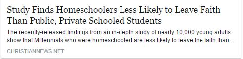 article about homeschooling